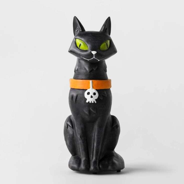 Animate-Black-Cat-Statue-Decorative-Halloween-Prop