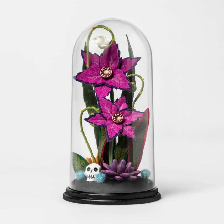 Creepy-Cloche-Artifical-Halloween-Plant